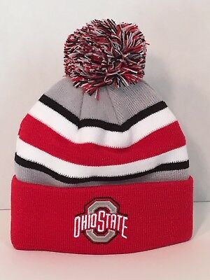 42b3afc2221 Ohio State Buckeyes OSU Kids Hat NEW Childrens Winter Cap Youth Beanie Red  Grey
