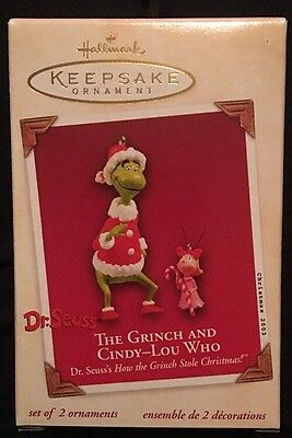 Hallmark THE GRINCH AND CINDY-LOU WHO Seuss How the Grinch Stole Christmas 2003