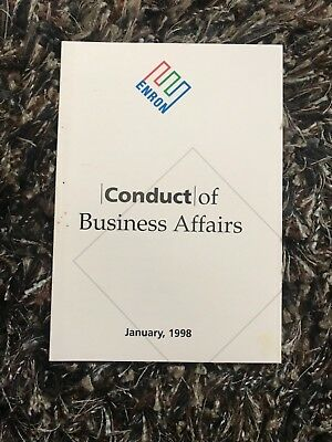 Enron Authentic KEN LAY Conduct of Business Affairs January, 1998 Booklet!!