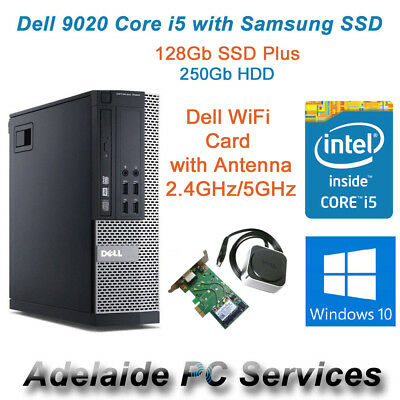 Dell Optiplex 9020 SFF i5-4570 3.20Ghz 8Gb Ram 128Gb SSD Win 10 Desktop PC WiFi