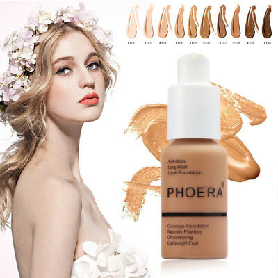 PHOERA Mineral Touch Whitening Concealer Facial Base Cream Liquid Foundation