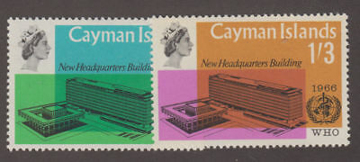 Cayman Is. - 1966 WHO Set. Sc. #184-5, SG #196-7. Mint