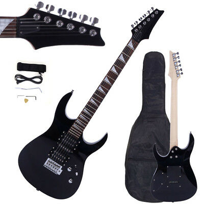 New Professional Electric Guitar +Guitar Bag & Accessories Black