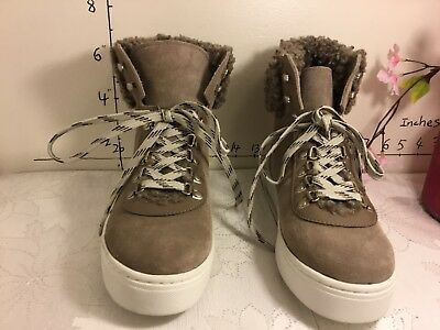 ff29541d7f1c  17 Sam Edelman Women New Putty Luther High Top Suede Sneaker size 8