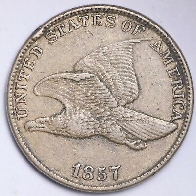 1857 Flying Eagle Small Cent CHOICE XF FREE SHIPPING E102 KFT