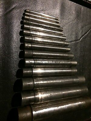 Lot of 14 Cleveland Lathe Mandrels, Sizes: 5/16 - 1 3/4
