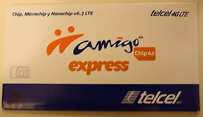 Telcel Mexico Triple SIM Card (No credit included)