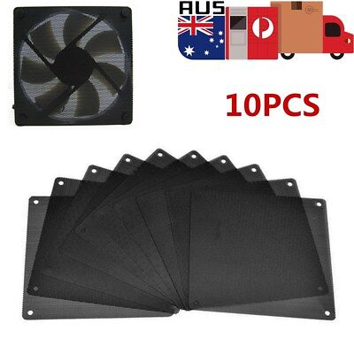 10x120mm PVC Black PC Fan Dust Filter Dustproof Case Computer Cooler Cover Mesh