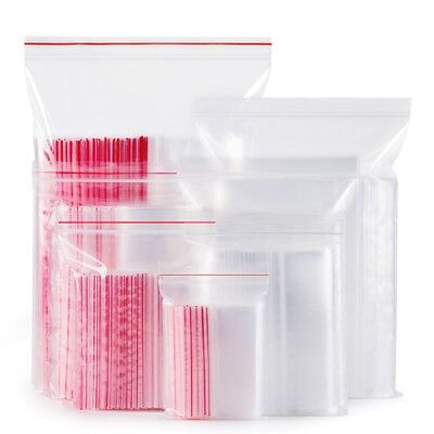 100Pcs Thickened Transparent Plastic Storage Resealable Seal Bag Subpackage Bags