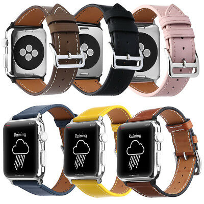 38/40/42/44mm Leather iWatch Wrist Watch Strap for Apple Watch series 4 3 2 1