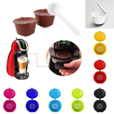 Refillable Reusable Coffee Capsules Pods For Nespresso Machines Spoon Free Ship