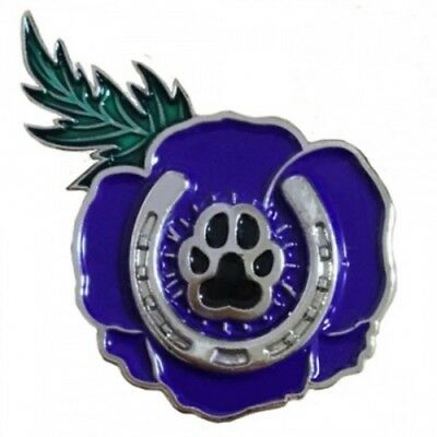 Purple Poppy - Service Badge Proceeds go to AWAMO