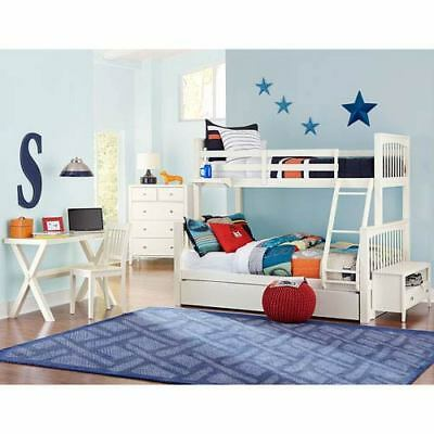 NE Kids Pulse White Twin Over Full Bunk Bed with Trundle - 33050NT