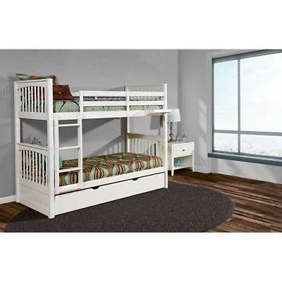 NE Kids Pulse White Twin Bunk Bed with Trundle - 33040NT