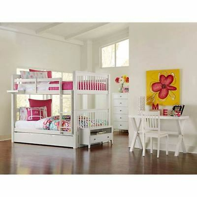 NE Kids Pulse White Full Bunk Bed with Trundle - 33060NT