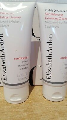 ❤❤ 2 x ELIZABETH ARDEN Visible Difference Balancing Exfoliating Cleanser 50ml ❤❤