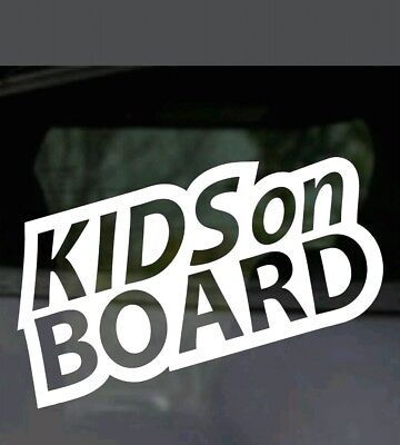 Kids On Board Safety Baby Sign Car Van Bus Window Bumper Vinyl Decal Sticker