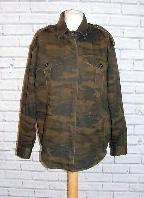 391a0fa00c867 NEXT MILITARY JACKET size 16 camouflage/camo green embroidered back BNWT £70
