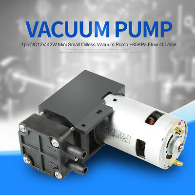 40L/min DC 12V 42W -85KPa Small Oilless Vacuum Pump