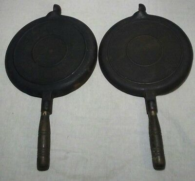 ANTIQUE WAGNER WARE CAST IRON  WAFFLE IRON  Pat'd July 22 1892 Irons Only..