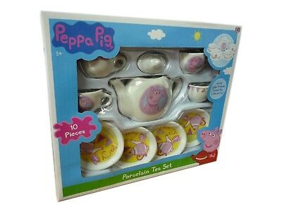 Peppa Porcelain Tea Set With 10 pieces Peppa Pig Afternoon Tea Toy Playset New