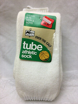 Tube Athletic Socks 1 Pair Vintage Size 9-15 Over the Calf