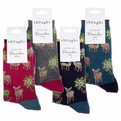 was Braintree 4 Pairs Super-Soft Bamboo Socks Thought /'Voyage/' Gift Box