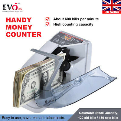 Mini Bank Note Currency Counter Count Money Fast Banknote Pound Cash Machine