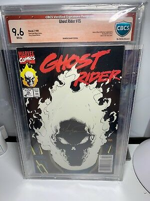 Ghost Rider #15 – Glow-In-The-Dark 1991 CBCS 9.6 NM+ Signed Texeira