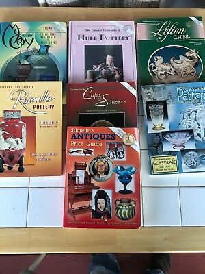 Lot of 7 Schroeders Antique Price Guides Collector Books Glassware Pottery China