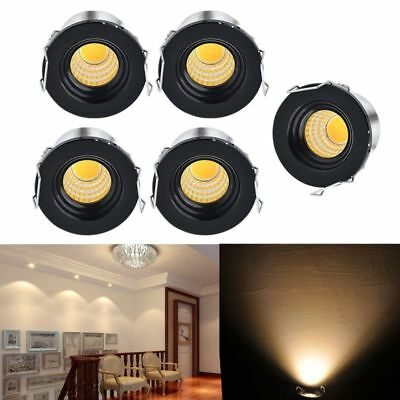 5x 3W LED Indoor Recessed Light Small Cabinet Mini Spot Lamp Ceiling Kit Fixture
