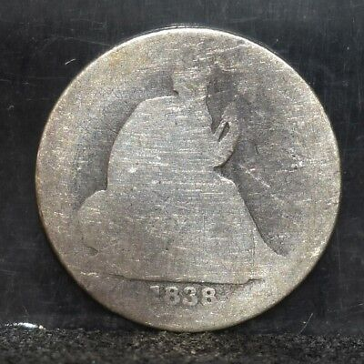 1838 Liberty Seated Dime - Large Stars, Partial Drape - AG (#17371)