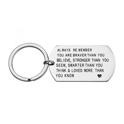 Stainless Steel Always Remember You are Braver Stronger Smarter Dog Tag NEW US