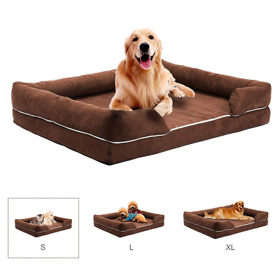CO-Z Pet Dog Bed Comfortable Orthopedic Qulited Sofa-Style Couch Memory Foam Mat