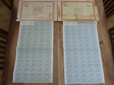 China, Marconi Loan 1918, 100 & 500 Pounds Sterling !  rare !