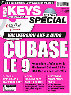 Cubase LE 9 Vollversion im Keys Special