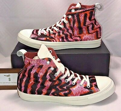 a9776d6dccc154 Converse Mens Size 10 Chuck Taylor All Star X Missoni White Leather Pink  Rare