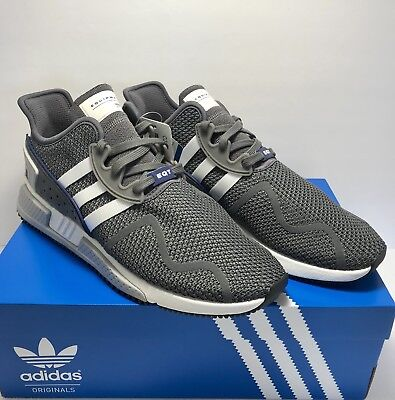 info for 95f36 4c14e Adidas EQT Cushion ADV Mens Size 13 Wolf Grey White Knit Running Shoes New