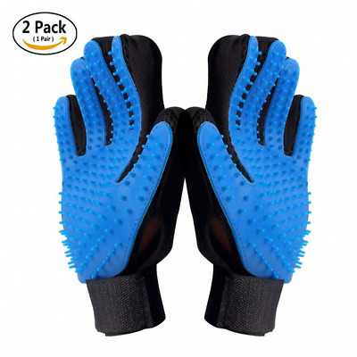 Pet Grooming Gloves Gentle Hair Remover Glove Brush Deshedding Massage Mitt Tool