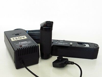 CANON MOTOR DRIVE MA for CANON A-1 & CANON AE-1 PROGRAM w/Ni-Cd Pack & Charger