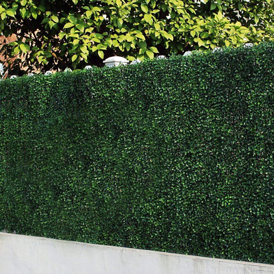 ULand 6 Piece Artificial Boxwood Hedges, Privacy Fence Screen for Outdoor, Wall