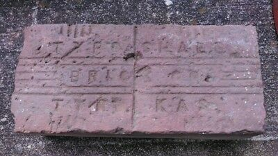 Early TYRO KANSAS BRICK CO SIDEWALK STREET PAVER RR TOWN BUILDING LOT