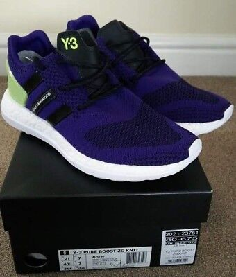 new concept f661e add09 Adidas y3 zg knit pure boost purple cw eqt support BNIB condition size UK7  US7