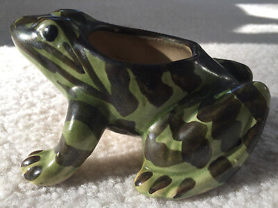 Vintage Original Brush Mccoy Frog Yard Ornament/planter. Clean!