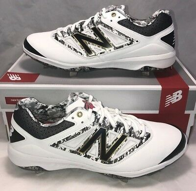 New Balance Size 12 Dustin Pedroia Player Edition Baseball Cleats White Metal