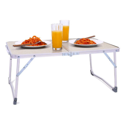 Rapesee Folding Aluminum Table Outdoor Picnic Camping 4 Person Portable Adjustab