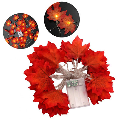 9.8ft Maple Leaf String Light 30 LED Fall Garland Battery Operated for Harvest