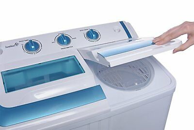 Ivation Small Compact Portable Washing Machine – Twin Tub Washer & Spin with 12.