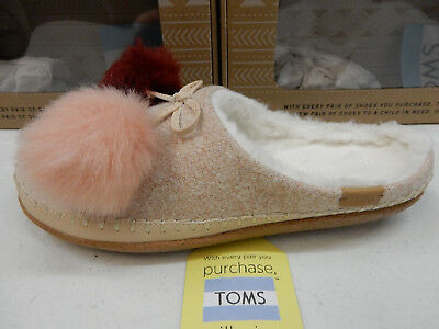6c3f9d82a3e TOMS IVY WOMENS Ladies Vegan Indoor Outdoor Slippers Mules House ...