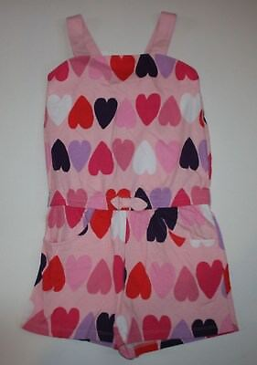 New Gymboree Outlet Heart Print Romper Short Outfit Size 10 Year NWT Summer Girl